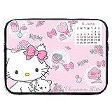 Anime Hello Kitty Funda para portátil, Impermeable y Plegable, maletín de Neopreno, Suave, para Tableta, de Viaje, 13 Pulgadas
