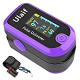 Pulse Oximeter Fingertip, Dual Color OLED Blood Oxygen Saturation Monitor for Pulse Rate and SpO2 Level,...