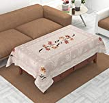 Fairy Home Center Table Cover Cream Flower Design in Cloth 40 inch * 60 inch