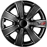 Jeu d'enjoliveurs VR 15-inch noir/look-carboné/logo