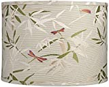 Golden Bamboo Leaves Drum Lamp Shade 15x15x11 (Spider) - Springcrest