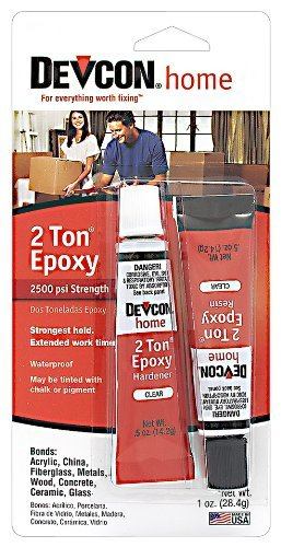 Devcon 35345 2 Ton Clear Epoxy - 0.5 oz. 2 Part Tube Size: 0.5 Ounce Model: 35345 (Hardware & Tools Store)
