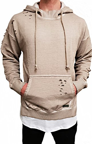 Oversize Designer Destroyed Hoodie Sweat Jacke Cardigan Hoody Kapuzen...