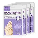 4 pares de guantes hidratantes de mascarilla para manos para el cuidado de las manos, mascarilla exfoliante ...