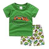 NING Little Boys Short Pajamas Sets Toddler PJS Set Cotton Kids Sleepwears (Ninja Turtles, 3T)