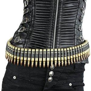 Real Bullet Belt .223 Caliber Brass Shell M16 Black Link 42″ 90 Bullet Link