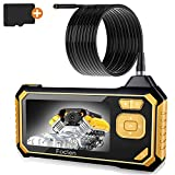 Industrial Endoscope,Foclen Borescope Camera 1080P HD 4.3inch LCD 2600mAh Battery Handheld Inspection Camera with Light 6 LED and 16GB TF Card Digital Video Recording IP67 Waterproof (16.4FT)