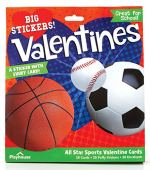 Playhouse All Star Sports Puffy Sticker 28 Card Super Valentine Exchange Pack for Kids