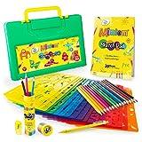 Mimtom Plantillas de Dibujo Kit de Manualidades para niños con 370 Figuras   Plantillas para Pintar Que desarrollan la Creatividad   Desde los 4 años