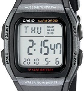 Casio Men's Classic Quartz Watch with Resin Strap, Black, 22 (Model: EAW-W-96H-1BV) 13