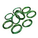 9 rollos de cables Bonsai de aluminio anodizado DIYARTS, alambre de aluminio de color para jardn, bonsi, entrenamiento, artesana, alambre de aluminio, 3 tamaos, 2 colores, verde