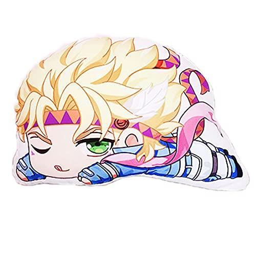Anime Jojo's Bizarre Adventure Kujo Jotaro Figura Cosplay Peluche Peluche Peluche Carino Bambola morbida Home Divano Decor Pillow Collection Pelsh Bambini regalo 40cm-William a Zeppel.