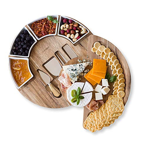 Cheese Board Set - Charcuterie Board Set and Cheese Serving...
