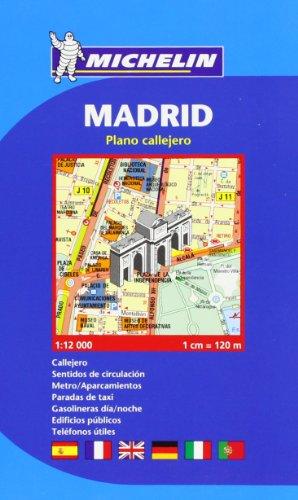 Plano Callejero Michelin Madrid. En espiral
