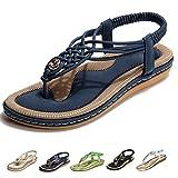 Camfosy Sandales Femmes Plates, Chaussures Été Tongs à Talons Plats Nu Pieds...