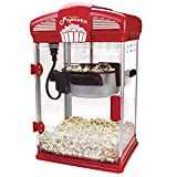 West Bend Hot Oil Theater Style Popcorn Popper Machine with Nonstick Kettle Includes Measuring Tool and Serving Scoop, 4-Ounce, Red, 1 Count