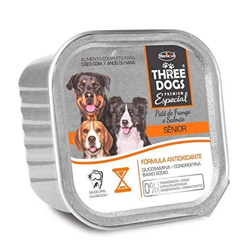 The Wet Food Line Pate Three Dogs Premium Special Senior Dogs Biofresh Breed Elderly, Chicken Flavor 150g