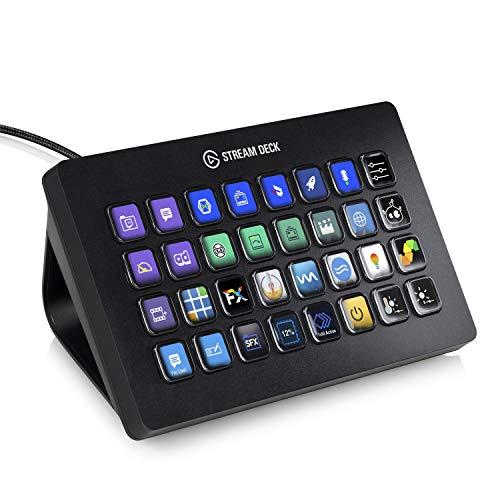 Elgato Stream Deck XL - Control de streaming, 32 teclas LCD personalizables, Windows 10 y macOS...