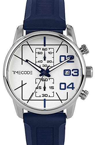 Timecode Voyager Uhr TC-1019-02 - Herren Gummi Quarz Chronograph