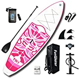 FunWater Inflatable 10'6×33'×6' Ultra-Light (17.6lbs) SUP for All Skill Levels Everything Included with Stand Up Paddle Board, Adj Paddle, Pump, ISUP Travel Backpack, Leash, Waterproof Bag