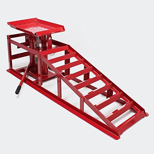 Auffahrrampe mit hydraulischem Wagenheber 2000kg höhenverstellbar Reifenbreite bis 225mm