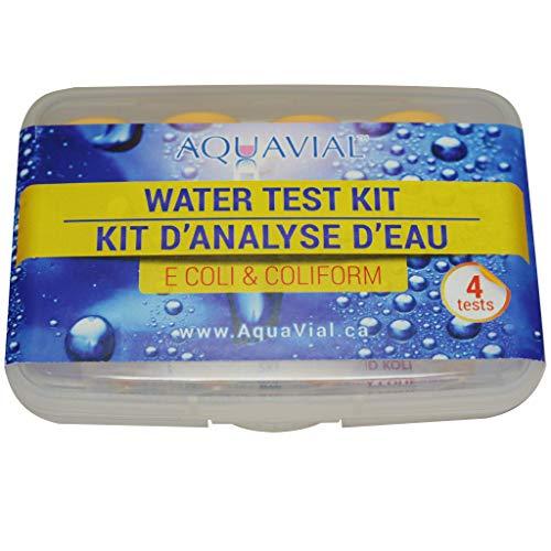 AquaVial 4 Test Acqua Presenza Escherichia Coli/Coliformi   Kit Analisi Batteriologica Acqua Potabile Contro Batteri   100% Affidabile Rileva Concentrazioni da 1 CFU/ML   Confezione 4 Test