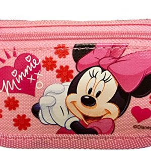 Disney Minnie Mouse Authentic Licensed Trifold Wallet, Pink, Size One Size