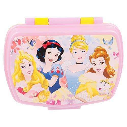 | Princesas Disney | Sandwichera Para Niños Decorada - Fiambrera Infantil | Caja Para El Almuerzo Y Porta Merienda Para Colegio - Lonchera