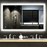 Turefans Miroir de Salle de Bain,Miroir LED, Interrupteur Tactile +...