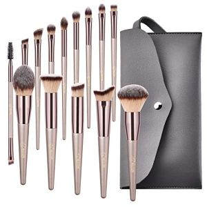 BESTOPE 18 PCs Makeup Brushes Premium Synthetic Contour Concealers Foundation Powder Eye Shadows Makeup Brushes with… 7