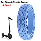 ALLOMN Electric Scooter Tire, 8.5 inch Electric Scooter Honeycomb for Xiaomi Front/Rear Wheel Replacement Tyre Spare Airless Tire Non-Slip Anti Puncture Wheel Tire (Blue)