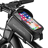 Bike Phone Front Frame Bag Bicycle Bag Waterproof Bike Phone Mount Top Tube Bag Bike Phone Case...