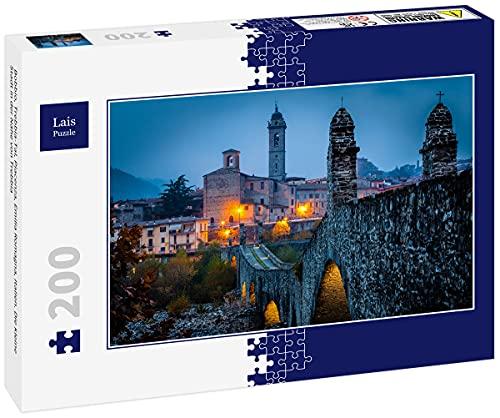 Lais Puzzle Bobbio, Val Trebbia, Piacenza, Emilia Romagna, Italia. Il Piccolo Paese Vicino a Trebbia 200 Pezzi