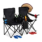 relaxdays Chaise de Camping Double, Fauteuil de Jardin...