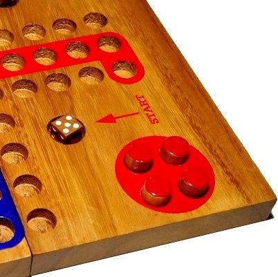 MONKEY POD GAMES Wooden Ludo - Large