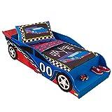 KidKraft 76038 Lit voiture de course pour tout-petits - Meuble pour chambre...