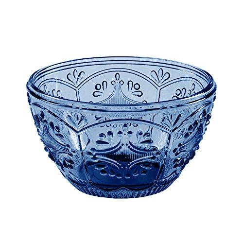 Fitz and Floyd Trestle Glassware General Purpose Bowl, Small, Indigo