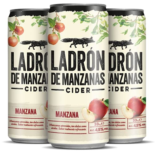 Ladrón de Manzanas Cider Manzana - Caja de 24 Latas x 330 ml - Total: 7.92 L