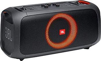 JBL PartyBox On-The-Go – Enceinte portable Bluetooth de soirée – Avec effets lumineux et micro sans fil – Avec protection anti-éclaboussures – Autonomie 6 hrs – Noir