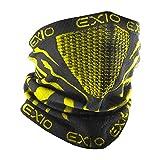 EXIO(エクシオ) ネックウォーマー フリーサイズ 冬 防寒 防風 花粉 バイク スポーツ 速乾 ブラック(ピンク)