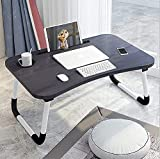 RYLAN Multi-Purpose Laptop Desk for Study and Reading with Foldable Non-Slip Legs Reading Table Tray, Laptop Table, Laptop Stands, Laptop Desk, Foldable Study Laptop Table, Study Table-+- (Black 1)