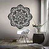 wZUN Decoración del hogar Mandala Pared calcomanía extraíble Mandala Flor Papel Tapiz Pared Arte Cartel 42X42cm