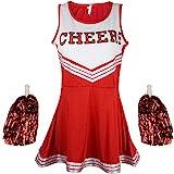 Uniforme de pom-pom girl - Costume High School Musical - Avec pompons