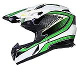 Qtech Casque de Motocross Moto Helm Enduro Quad ATV FMX MTB MX - Vert - XL (61-62cm)