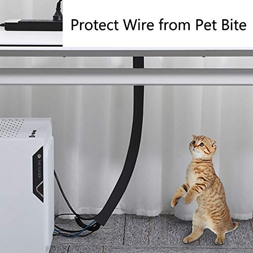 Management Sleeve Wire, GIKPAL 120 inch Cable Cord Organizer Flexible Cable Wrap Wires Hider Protector for Pets TV Computer Office Home Car