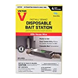 Victor Ready-to-Use Poison M915 Fast-Kill Brand Disposable Mouse Bait Station – 4-Pack , Black