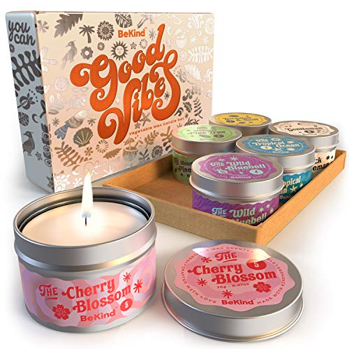 Bekind Good Vibes 6 Scented Candles Set - Scented...