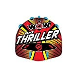 WOW World of Watersports Big Thriller 1 or 2 Person Inflatable Towable Deck Tube for Boating | 18-1010