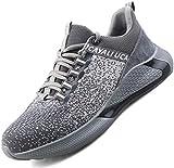 Ucayali Zapatos de Seguridad Hombre Calzado Trabajo Comodos Ligeras Zapatillas para Trabajar con Punta de Acero Transpirables Antiestaticos Cocina(017 Gris, 41 EU)