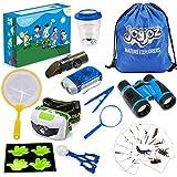 Joyjoz Entdecker Set für Kinder 28 Stück, Forscherset für Kinder Geeignet für Jungen Mädchen ab 3 Jahren mit Fernglas für Kinder/Becherlupe/Lupe Kinder,Perfekte Spielzeug für Outdoor/Camping/Wandern